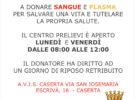 IL COMUNE E L'AVIS DI CASERTA VI INVITANO A DONARE